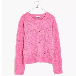 MADEWELL pink sweater charley pullover top medium